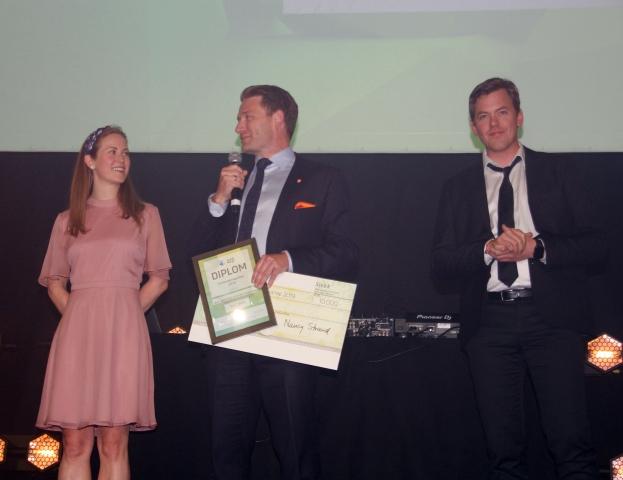 Thomas Mørch roste samarbeidet i laget og trakk spesielt fram arbeidet til Kristine Laake og Thomas Topstad da han mottok Innovasjonsprisen på vegne av Norsk Gjenvinning.