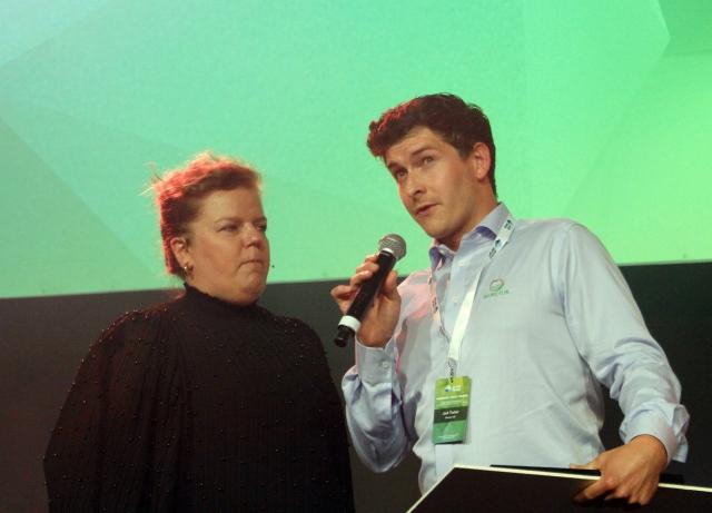 Jack Tucker mottok gründerprisen på vegne av Bioretur.