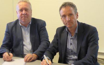 Bjørn Kopstad (t.v.) og Henrik Lystad tror definitivt at det er behov for et nytt rådgivningsselskap i avfalls- og gjenvinningsbransjen.