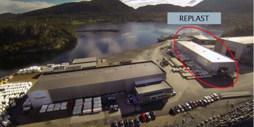 Quantafuel har kjøpt seg inn i bedriften Replast i Kristiansund. Her skal det bli et kombinert anlegg for mekanisk og kjemisk plastgjenvinning. Foto: Quantafuel