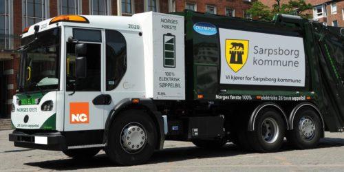 TOPPSCORE: Elektriske avfallsbiler vil komme best ut i miljøvurderingen ved offentlige anskaffelser dersom innkjøpsrådene som nå presenteres blir fulgt.