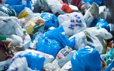 DÅRLIG BETALT: I de nye avtalene aksepterer Grønt Punkt Norge også emballasjeplast samlet inn i fargede poser, men betaler langt dårligere for den enn for plast samlet inn i klare sekker.