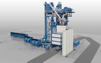 Asfaltfabrikken som er planlagt i Mandal skal gi asfalt med et betydelig lavere klimafotavtrykk enn tidligere. Ill: Velde AS